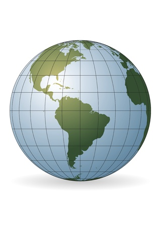 south pole: South America map. Antarctica, North America, Africa.