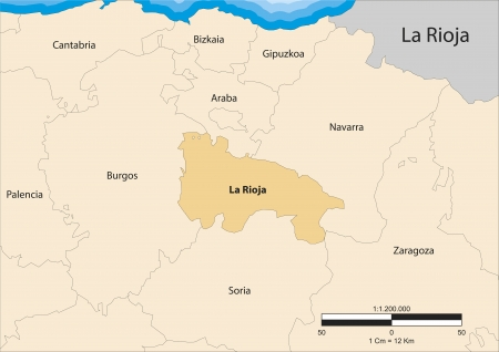 la rioja: map of the autonomous community of La Rioja  Spain