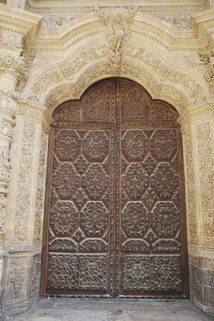 Door of Astorga Cathedral photo