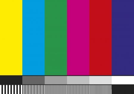 Televisie testpatroon van strepen. Gebruikt om de kwaliteit van de opvang te bewijzen.