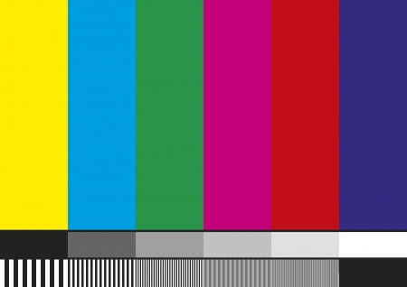 contrast resolution: Television test pattern of stripes. Used to prove the quality of reception. Illustration