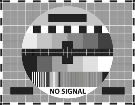 Televisión patrón de prueba. Se utiliza para probar la calidad de la recepción.