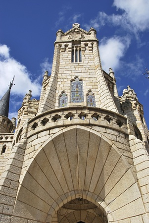 Detail of the Episcopal Palace  Astorga, León, Spain photo