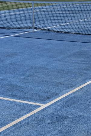 Detalle de una pista de tenis en color azul Foto de archivo - 19399962