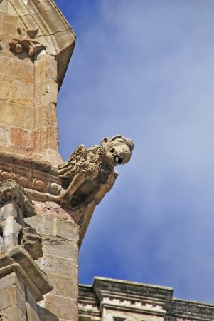 chimera: Gargoyle in the Cathedral of Astorga, León, Spain