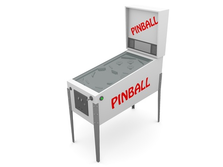 Pinball machine. Electronic recreation for all. It works with a coin Stock Photo