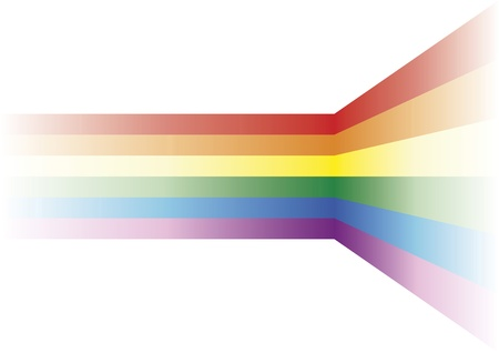 homosexuality: Gay background. Decorative element with the gay flag over white