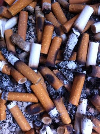 tabaco: Butts en el cenicero