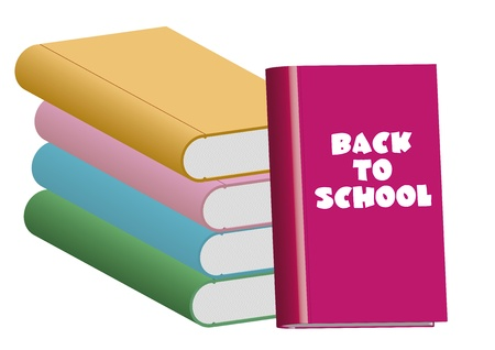 Some books stacked. Back to school concept Stock Vector - 21925246