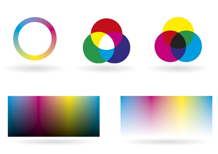 proofs: Illustration showing some charts, spectrums and graphics for color management Illustration