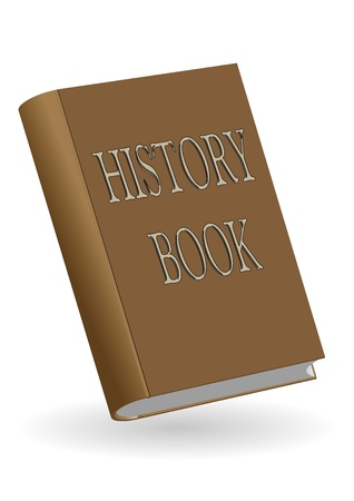 history book: illustration of a brown history book