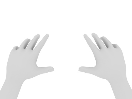 grabbing hand: illustration of two hands trying to get something