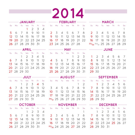 2014 elegant squared calendar  File easy to edit and apply Vector