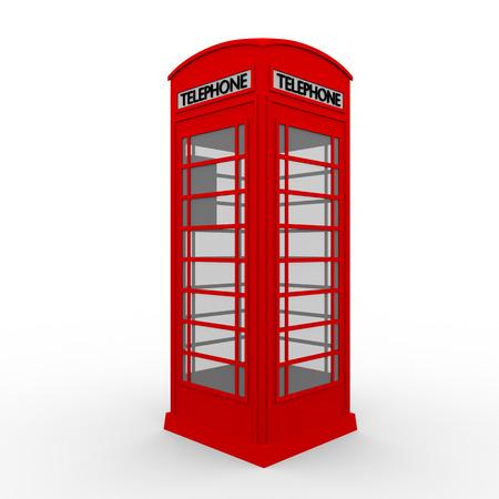 cabina telefonica: Cabina telefónica Inglés tradicional pintado de rojo Foto de archivo
