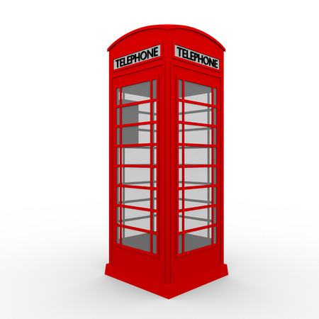 phonebooth: Traditional english telephone cabin painted in red