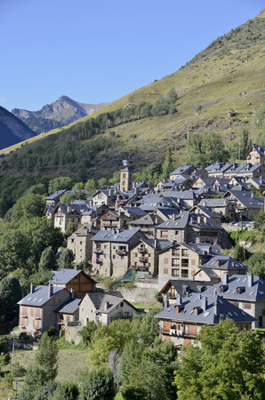 Typical spanish pyrenees architecture in Taull, Lleida, Catalonia, Spain. photo