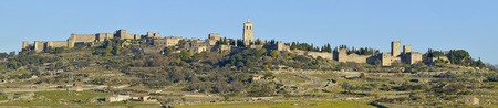 conqueror: Panoramic view of the medieval town of Trujillo, Cáceres, Extremadura, Spain Stock Photo