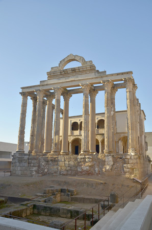Dianas temple in Amerita Augusta, Merida, Badajoz, Extremadura, Spain photo