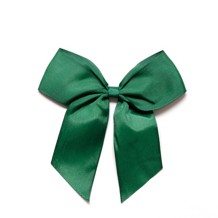 Green ribbon over a white. Perfect for Saint Patrick's day photo