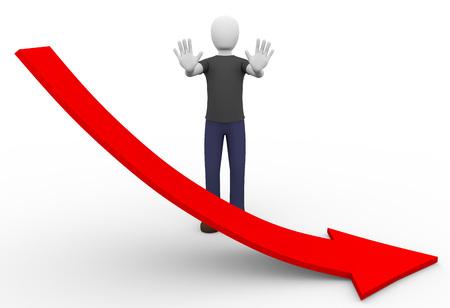 perdidas y ganancias: Un hombre está tratando de detener las pérdidas económicas