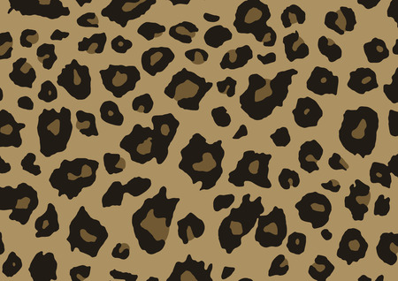 leopard print: Background imitating the pattern of a leopard fur. Illustration