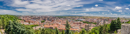 panoramic roof: Panoramic of the city of Burgos as seen from the castle Stock Photo