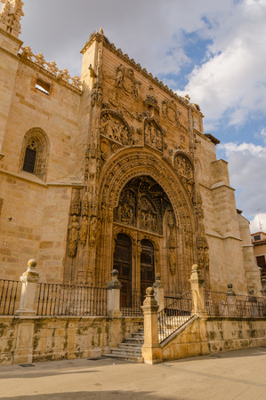 patrimony: Santa Maria la Real church in Aranda de Duero. Burgos, Castile and Leon, Spain Stock Photo