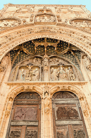 Door detail of Santa Maria la Real Church. Aranda de Duero, Burgos, Spain photo