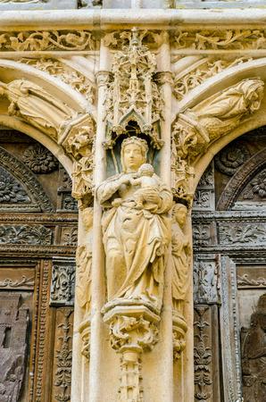 Detail of the Virgin in Santa Maria la Real Church. Aranda de Duero, Burgos, Spain photo