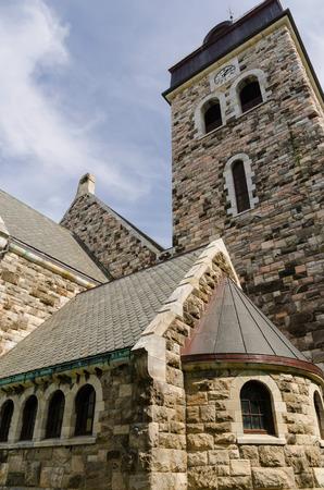 alesund: Side view o Alesund church. Norwegian fjords. Norway
