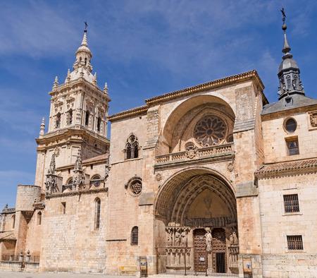 Facade of the cathedral of Burgo de Osma, Soria, Castilla y Leon, Spain photo