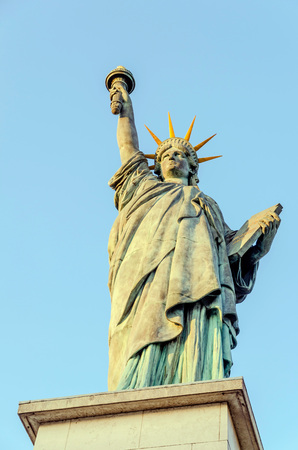 Statue of the Liberty in Paris, France. Front view photo
