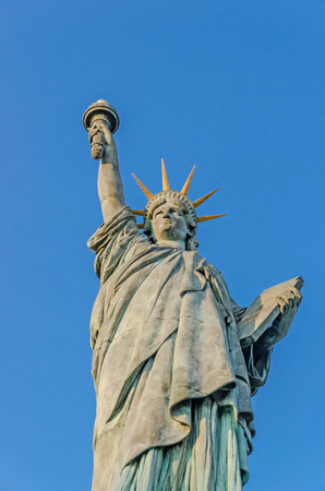 Front view of the statue of the Liberty in Paris. France photo