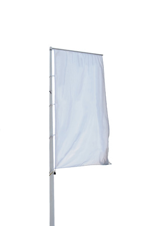 An empty vertical banner isolated over white. Stok Fotoğraf - 32641968
