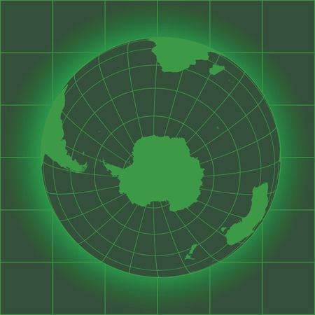 Green Antarctica and South Pole map. Antarctica, Australia, America, Africa. Earth globe. Elements of this image furnished by NASA