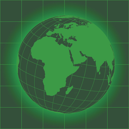 Green Europe and Africa map. Europe, Africa, Russia, Asia, North pole, Greenland. Earth globe. Elements of this image furnished by NASA