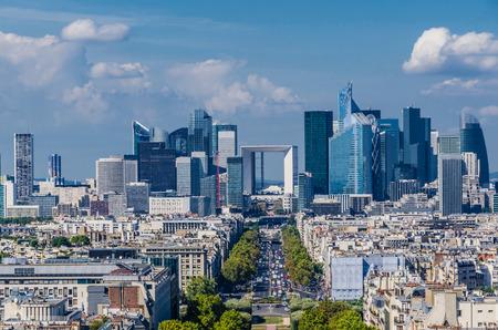 la defense: Skyline of business district of Paris, La Defense. Modern architecture