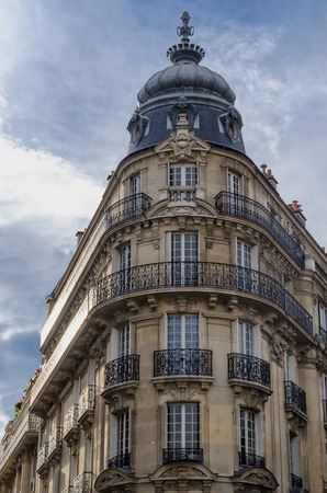 Old building in the city of paris, France, Europe. Typical parisian architecture photo
