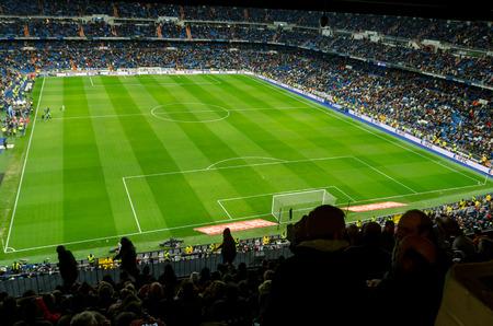 castellana: MADRID, SPAIN - FEBRUARY 4: Santiago Bernabeu Stadium on February 4, 2015 in Madrid, Spain. Real Madrid C.F. was born in the year 1902 and Santiago Bernabeu Stadium is its headquarters