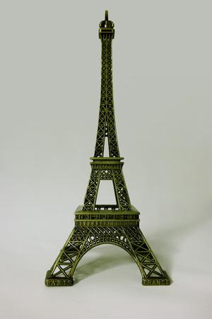 Miniature of the Eiffel Tower in Paris. Tour eiffel souvenir photo