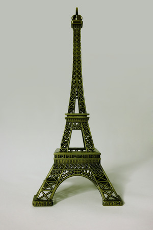 showpiece: Miniature of the Eiffel Tower in Paris. Tour eiffel souvenir Stock Photo