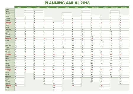 calendario noviembre: 2016 planificador anual. Calendario espa�ol para el a�o 2016. La semana comienza el lunes Vectores