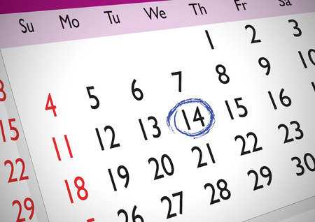 generic: Marked date on an english generic calendar