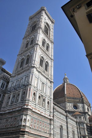 the campanile: Detail of Campanile. Santa Maria dei fiore. Florence. Italy.