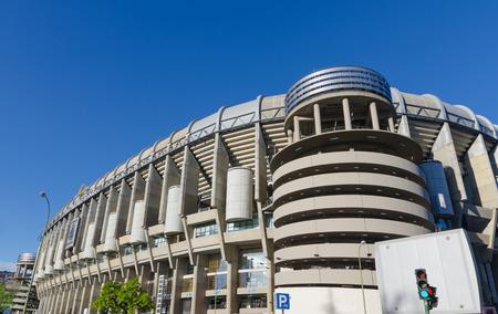 castellana: Facade of Santiago Bernabeu Stadium in Madrid