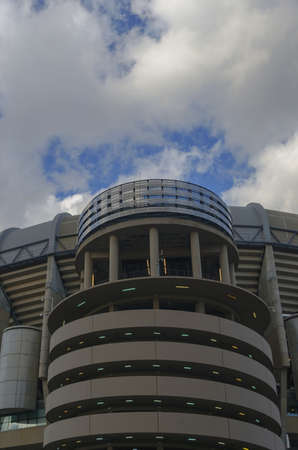 castellana: One of the columns in Santiago Bernabeu stadium. Real Madrid.