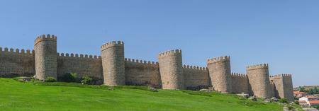 avila: Detailed view of Avila walls, also known as murallas de avila. Avila, Castilla y Leon, Spain Stock Photo