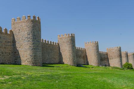 castile and leon: Detail of the Avila wall. Avila, Castile and Leon, Spain