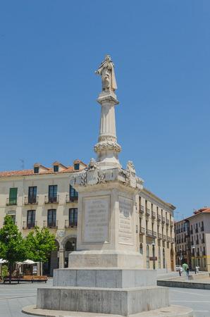 sainthood: Santa Teresa de Jesus statue in santa teresa square, Avila, Spain Editorial