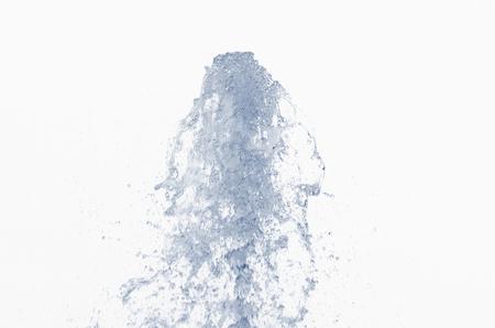 jet stream: Corriente de chorro de agua contra un blanco